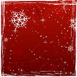 Red square grunge christmas background