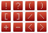 Matrix symbol square icons set.