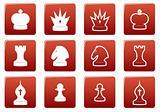 Chess square icons set.