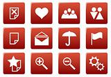 Gadget square icons set.