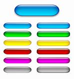 Colorful set of glossy web buttons
