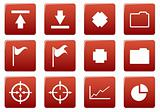 Gadget square icons set.