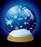 snow globe flake