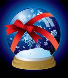 snow globe ribbon