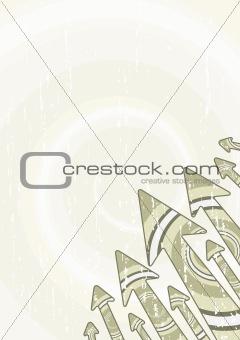 Retro arrows stylish sheet
