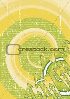 Green retro arrows stylish sheet
