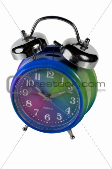 alarm clock isolated with clipping path