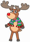 Cute standing Christmas elk