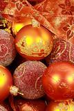 Christmas balls with ribbon