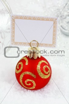 Christmas ball with label