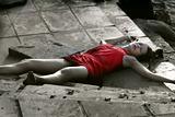crime scene, dead woman
