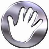 3D Silver Framed Hand Print