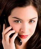 Beautiful Woman Using her Cell Phone