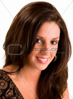 Beautiful Smiling Young Brunette