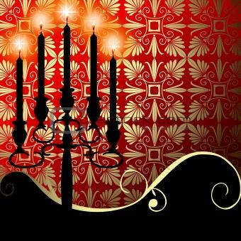 Celebration with a candelabra