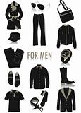 Objects for men silhouettes