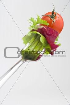 Fork crave Fresh vegetables