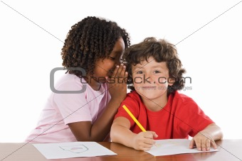 Kids studing together