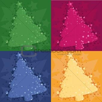 four Christmas tree