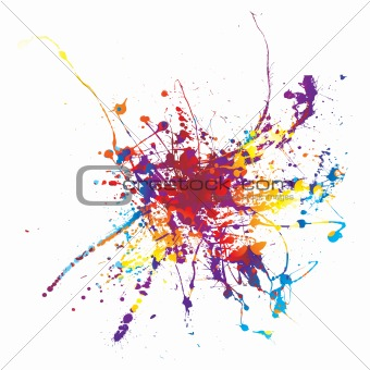 paint splat rainbow