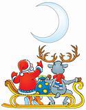 Santa Clause and Reindeer