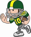 Illustration of football player
