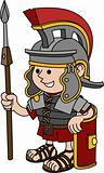 Illustration of Roman soldier