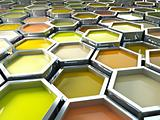 hexagon color paint