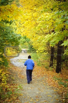 Fall urban trail