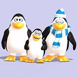 toon penguin family 