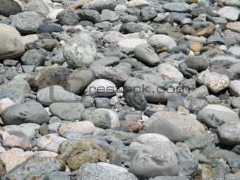 grey polished rocks