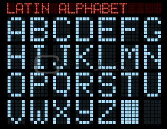 Latin alphabet.