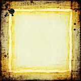 golden grunge frame