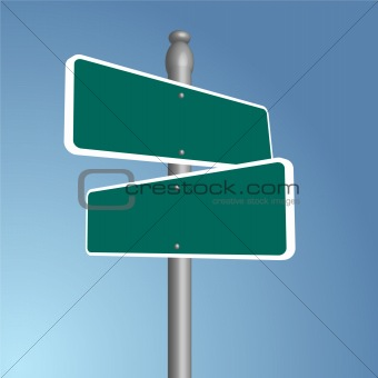 Crossroads Blank Vector Illustration
