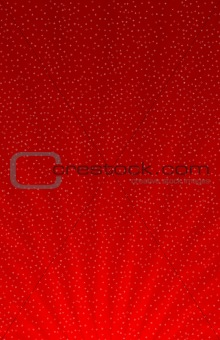 Snowflakes on red gradient