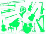 Musical instruments silhouette