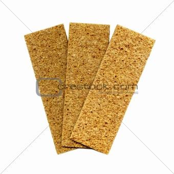 Three crispbreads
