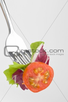 Fork crave Fresh vegetables