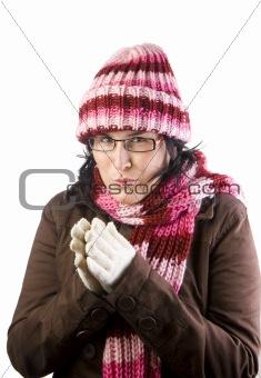 christmas cold girl
