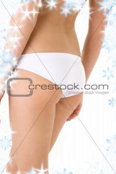 back in white panties