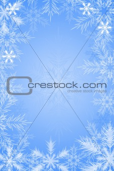 Blue background with snowflake