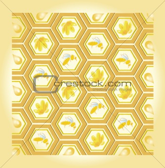 bee and honey pattern