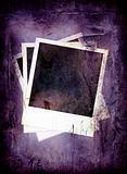 Purple grunge polaroid