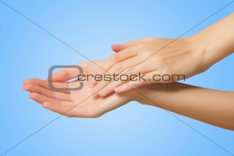 slim female hand
