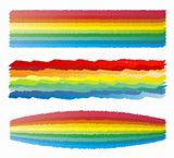 Rainbow crayon scribble stripes