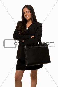 Business woman in black