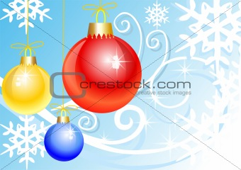 Abstract colorful illustration with christmas balls