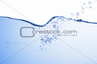 Abstract blue wave splash background