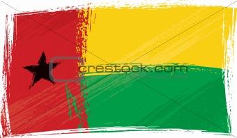 Grunge Guinea-Bissau flag