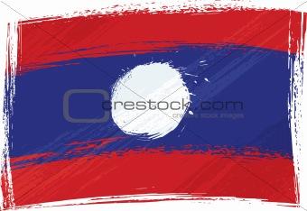 Grunge Laos flag